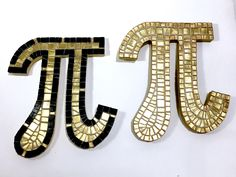 Want a truly unique holiday gift for a math lover in your life? - shimmering Golden Pi mosaic wall decor #mathgeek  #mathgradgift www.etsy.com/listing/567765055/math-lover-gift-unique-christmas-gift