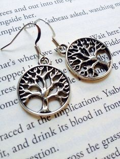 Silver Tree of Life Earrings #DropDangle