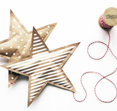 DIY | The Minimal Paper Star An easy DIY project for your Xmas decorations. Printable and tutorial on our blog!