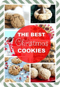 The BEST Christmas Cookies!! Find all your new favorites right here. #christmas #cookies #thebest #recipes #wholegrains #vegan #glutenfree #easy #holiday