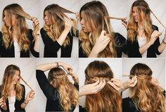 Cómo hacer un semirecogido con trenza para pelo ondulado