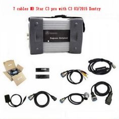 This Star C3 multiplexer for benz comes with 7 cables in the package. MB star c3 multiplexer with 7 cables work with C3 03/2015 Xentry das software. for Benz star C3 multiplexer diagnosis with seven cables support for Mercedes Trucks and Cars with all computer.