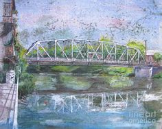 Elora Bridge by Bev Morgan - Elora Bridge Painting - Elora Bridge Fine Art Prints and Posters for Sale