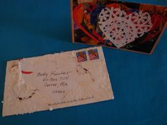 a Valentine from Larry...his envelopes were often as creative and cool as the cards inside