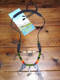 "Fly fishing lanyard, ""TROUT"" model, with Quick Detach Tippet and Quick Detach Rings"