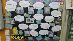 Beegu literacy wall display