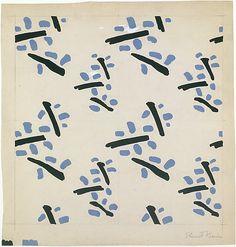 Fabric Design, abstracted leaf motif Stuart Davis 1934. (American, Philadelphia, Pennsylvania 1892–1964 New York)