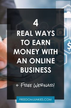 Are you Ready to Take Control of Your Income? Here are 4 REAL Ways to Earn Money Online with an Online Business THIS WEBINAR IS FOR YOU IF: You are tired of a 9 – 5 lifestyle. You are tired of not having enough money to pay the bills. You are ready to h