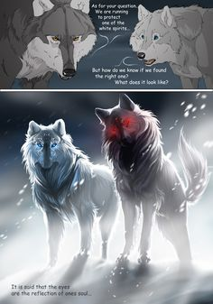 Skoll & Heart - Wolf and Raven - Tiere Anime Wolf, Pet Anime, Anime Animals, Anime Guys, Artwork Lobo, Wolf Artwork, Wolf Spirit, Spirit Animal, Fantasy Kunst