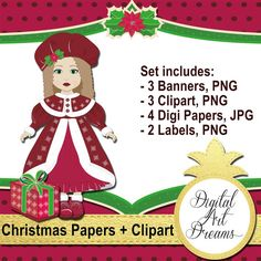 Christmas Clipart Doll Clipart PNG Christmas by DigitalArtDreams