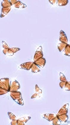 Iphone Wallpaper Tumblr Aesthetic, Iphone Background Wallpaper, Aesthetic Pastel Wallpaper, Purple Butterfly Wallpaper, Butterfly Background, 3d Animation Wallpaper, Cute Patterns Wallpaper, Pretty Wallpapers, Butterflies