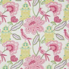 Warwick Fabrics : LANTERN GARDEN