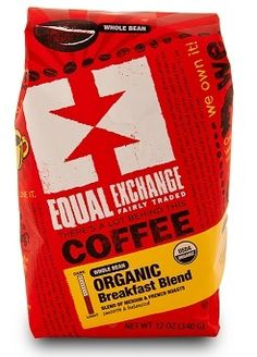 equal exchange organic fair trade coffee breakfast blend image 12 oz for $9  tropical traditions