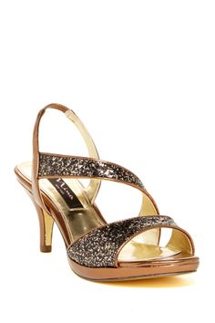 c4a3be8d7af Nina Shoes Nina Shoes Newark Glitter Dress Sandal Glitter Sandals