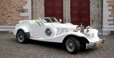 Excalibur Phaeton Cabriolet (wit/wit) trouwauto, 123Trouwauto