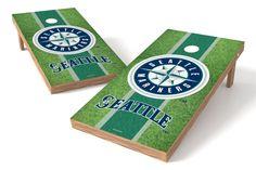 Seattle Mariners Cornhole Board Set - Field (w/Bluetooth Speakers)
