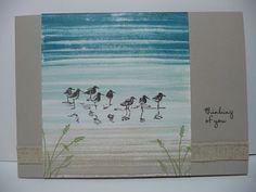 A Fanatical Stamper: Bouncing Brayer Card, Stampin'Up! Wetlands stamp set
