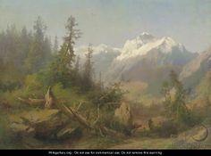 Herman Herzog Paintings | In the Sierras - Herman Herzog