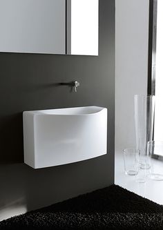 Share Via 36 a Bathroom Sink is not an easy matter. Because there are many sink designs out there. The selection of the wrong sink will certainly damage the interior theme … Unique Bathroom Sinks, Bathroom Sink Design, Modern Bathroom, Small Bathroom, Bathrooms, Modern Toilet, Bathroom Designs, Bathroom Ideas, Undermount Stainless Steel Sink