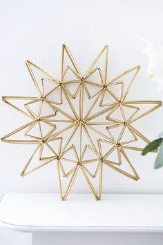 DIY: star made from drinking straws