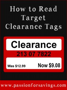 Find out How to Read Target Clearance Tags to know if you are getting the best deal!