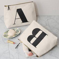 initial wash bag natural by alphabet bags   notonthehighstreet.com