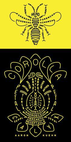 aaron kuehn - pollinator typogram