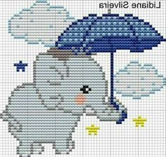 This Pin was discovered by Dan Baby Cross Stitch Patterns, Cross Stitch For Kids, Cross Stitch Baby, Pixel Crochet Blanket, Crochet Blanket Patterns, Cross Stitching, Cross Stitch Embroidery, Perler Bead Emoji, Elephant Cross Stitch