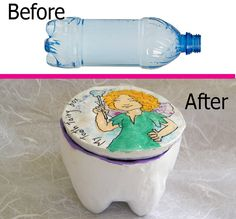 Tooth Fairy Box / Baby Teeth Keepsake Box / Purple by RecycoolArt