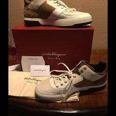 Men's S.F. Monroe's Sold Out NWB Men's size 12 Monroe Sold Out These shoes are New Condition. You will receive the box and 2 authentic shoe bags. Also comes with alternate brown laces. You can check out Lyst.com where these shoes were last seen...at 587 before tax and shipping.... Salvatore Ferragamo Shoes Sneakers