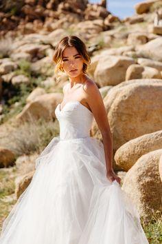Dress: Astrid & Mercedes Minuit | Photographer: Tim Melideo | HMU: Colbie Wilson | Florals: Morgan Wynia | Model: Quigley | Venue: Homestead Modern