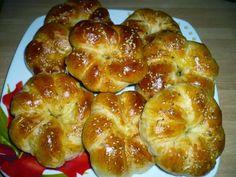 Greek Sweets, Greek Desserts, Greek Recipes, Bread Dough Recipe, Saveur, Bagel, Biscuits, Dessert Recipes, Food And Drink