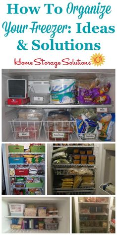 Lots of real life ideas for how to organize your freezer on Home Storage Solutions 101 Freezer Organization, Freezer Storage, Home Organization Hacks, Organizing Your Home, Kitchen Organization, Organize Freezer, Organize Fridge, Food Storage, Organization Ideas