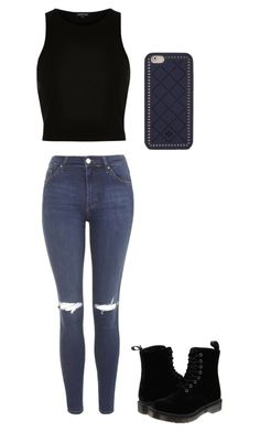 """""""Untitled #551"""" by magconlover234 on Polyvore featuring River Island, Topshop, Dr. Martens, Tory Burch, women's clothing, women, female, woman, misses and juniors"""