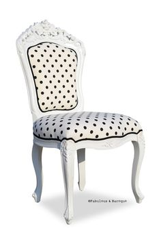 Belle de Fleur Side Chair - Black & White Fabulous & Baroque -- Ah Mazing Store.