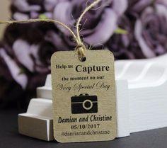 Wedding Favour Gift Tags, #Instagram Wedding, Personalised, Handmade, TGS20