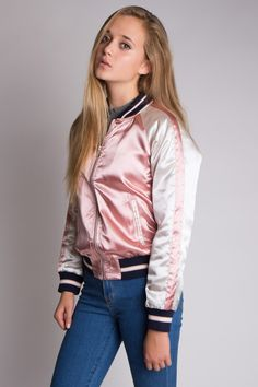 Look super stylish in our new two toned bomber jackets!