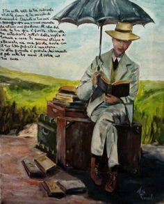 Il venditore di libri .....acrilico su tela