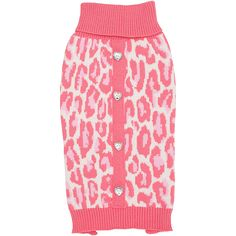 Petco Smoochie Pooch Coral Leopard Dog Sweater