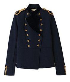 Acheter Veste d Officier pour Femme – Bleu marine Boutons dorés – Ralph  Lauren Plus d426081eac7