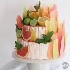 Is there anything more gorgeous than this Citrus Brushstroke Cake? The answer is NO, 🎨 🎂 . (Inspired by Bakery in Russia) Brushstroke Cake, Stuffing Ingredients, Gelato Recipe, Cool Cake Designs, Fruit Roll Ups, How To Cook Eggs, Savoury Cake, Clean Eating Snacks, How To Make Cake