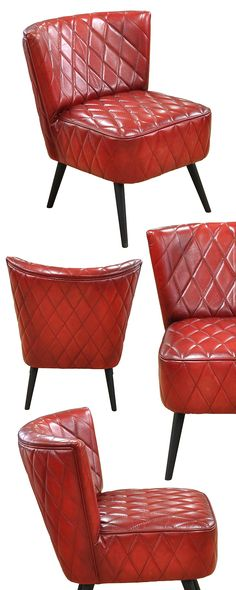 The Addams Dining Chair in Red speaks to the connoisseur of vintage-inspired décor in a big way. Its generously padded frame and seat cushion feature an iconic 1960s diamond channel-stitching that will...  Find the Addams Dining Chair in Red - Set of 2, as seen in the Accent Chairs Collection at http://dotandbo.com/category/furniture/chairs/accent-chairs?utm_source=pinterest&utm_medium=organic&db_sku=117500