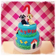 Woezel & Pip birthday cake for a little boy!