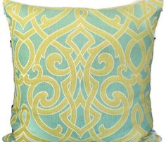 Decorative pillow cover  20x20 Throw Pillow  by MissEvaDivaDesigns, $42.00