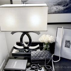 Chanel Bedroom, Glam Bedroom, Room Ideas Bedroom, Bedroom Decor, Decorating Bedrooms, Chanel Lamp, Chanel Decor, Awesome Bedrooms, Beauty Room