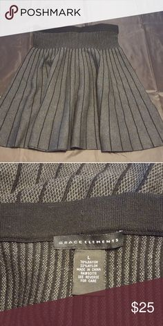 """NWOT Sweater skirt NWOT, never worn.  It's a bit too long for my short legs and not flattering for me.  A taller person with longer legs,  I think would look amazing. It measures 21"""" long,  shown. Grace Elements Skirts A-Line or Full"""