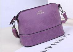 2017 Hot style women's handbag designer fashion vintage small shoulder messenger bag matte leather women shell bag