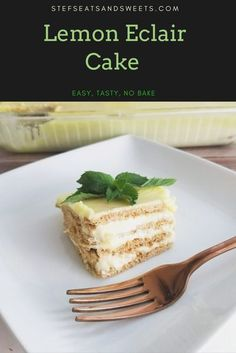 This easy no bake dessert is perfect for Summer or anytime for lemon lovers. This is a lemon version of the classic eclair cake. #lemon #eclaircake #nobake #desserts Lemon Dessert Recipes, Best Dessert Recipes, Candy Recipes, Cupcake Recipes, Types Of Desserts, Cold Desserts, Easy No Bake Desserts, Patriotic Desserts, Poke Cakes