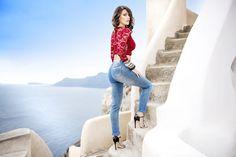 #LUXURYJEANS #denim #jeans #moda #donna #taglie #comode #skinny #outfit #collezione2016 #ss2016 #camicia #giacca #pantaloni #pants #jacket #blusa #maglia #shooting #santorini #grecia