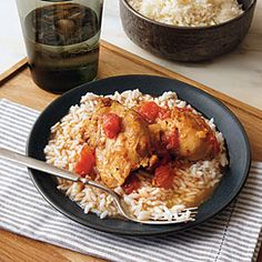 105 Slow-Cooker Favorites | Saucy Chicken over Rice | CookingLight.com